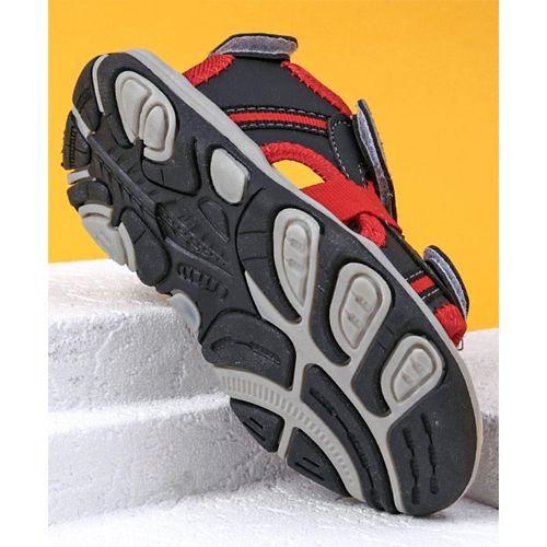 Cute Walk by Babyhug Velcro Closure Sandals - Black Red