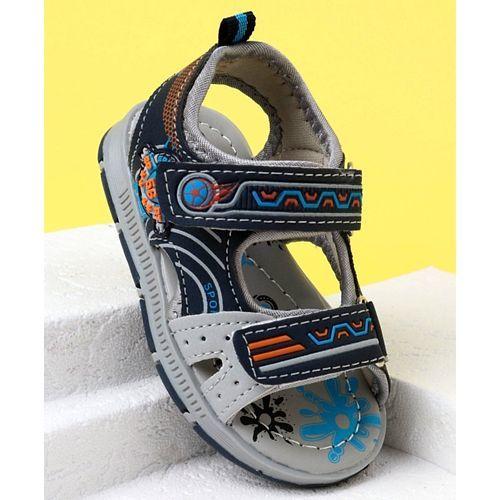Cute Walk by Babyhug Open Toe Sandals Sport Patch - Navy Blue
