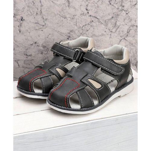 Cute Walk by Babyhug Sandals With Velcro Closure - Black