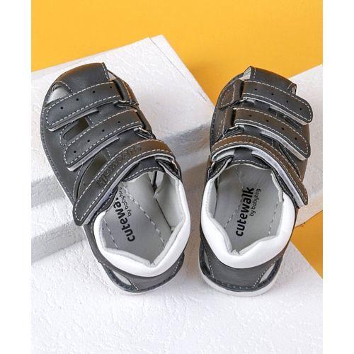 Cute Walk by Babyhug Closed Toe Sandals - Grey