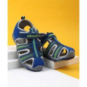 finest selection 9f918 c682c Cute Walk by Babyhug Velcro Closure Sandals - Blue
