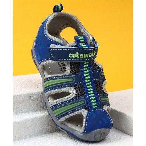 Cute Walk by Babyhug Velcro Closure Sandals - Blue