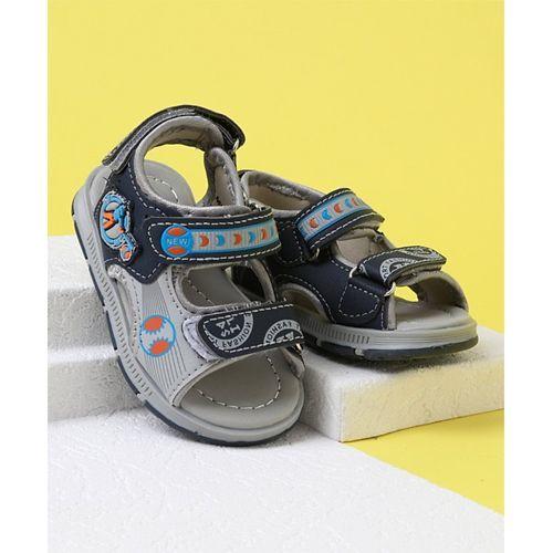 Cute Walk by Babyhug Velcro Closure Sandals - Navy Grey