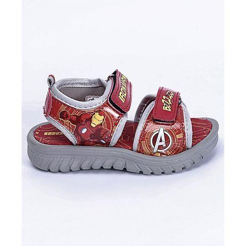 Marvel Velcro Closure Sandals Iron Man Print - Red