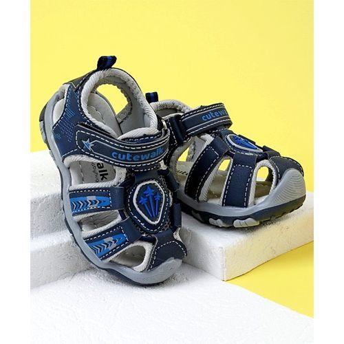 Cute Walk by Babyhug Sandals With Velcro Closure - Blue