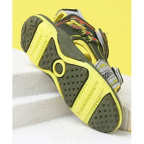 Cute Walk by Babyhug Sandals - Grey Yellow