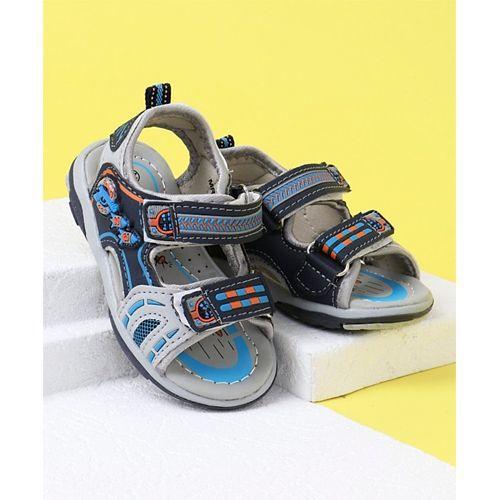 Cute Walk by Babyhug Sandals - Grey Blue