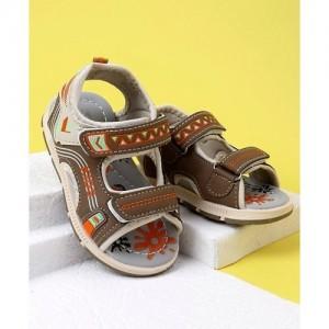 5411904cb2b6 Buy Cute Walk by Babyhug Open Toe Sandals Sport Patch - Brown online ...