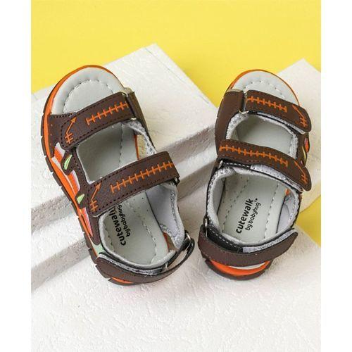Cute Walk by Babyhug Floaters - Black Orange