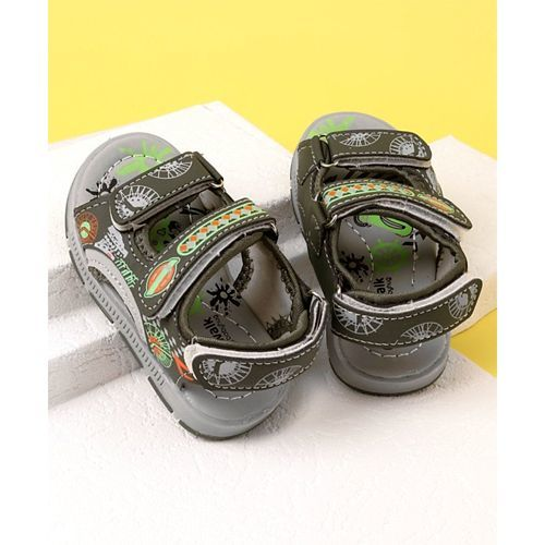 Cute Walk by Babyhug Open Toe Sandals - Olive Green