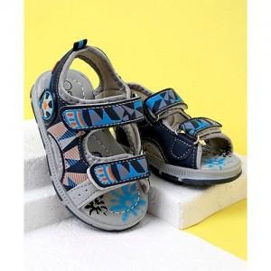 Cute Walk by Babyhug Sandals - Grey