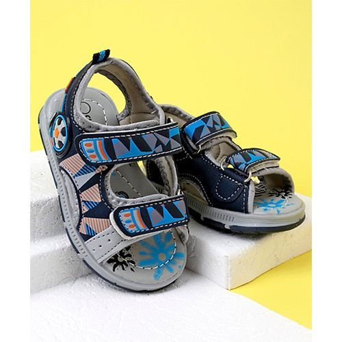 Cute Walk by Babyhug Sandals - Grey