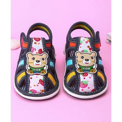 Cute Walk by Babyhug Sandals Bear Motif - Navy