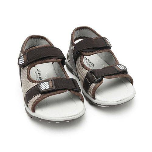 Cute Walk by Babyhug Sandals With Dual Velcro Closure - Brown