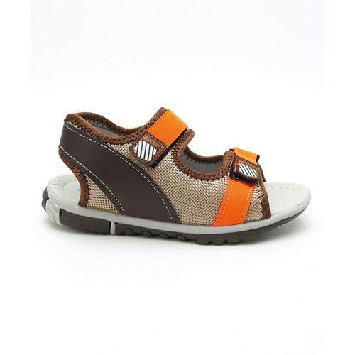 Cute Walk by Babyhug Sandals With Dual Velcro Closure - Orange