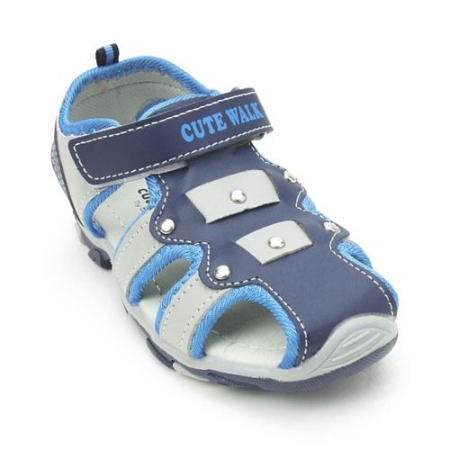 Cute Walk by Babyhug Sandals With Velcro Closure - Grey Navy Blue