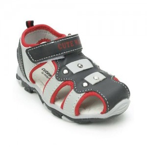 Cute Walk by Babyhug Sandals With Velcro Closure - Grey Red
