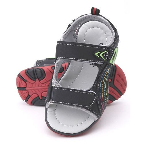 Cute Walk By Babyhug Sandals - Neon Green & Grey