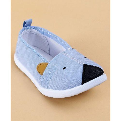 Cute Walk by Babyhug Canvas Casual Shoes Animal Design - Sky Blue