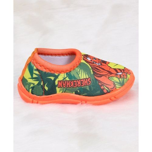 Jungle Book Slip On Style Casual Shoes Tiger Print - Orange