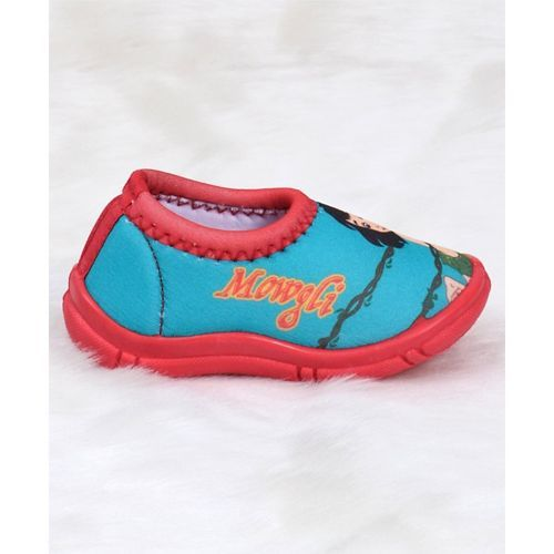 Jungle Book Slip On Style Casual Shoes Mowgli Print - Red