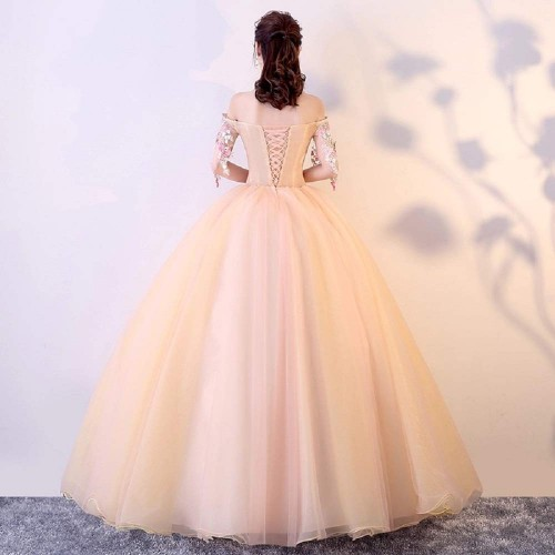 THE LONDON STORE Pink Graceful Ball Gown