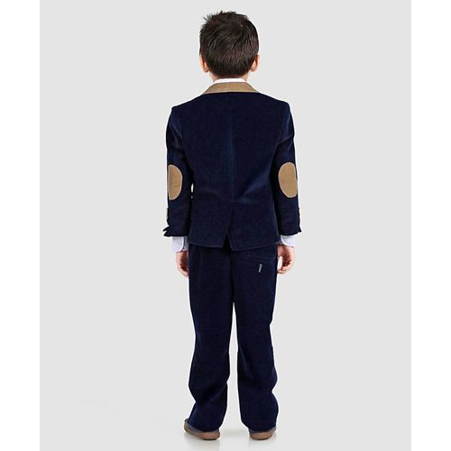 Kookie Kids Full Sleeves Solid 4 Piece Party Suit - Navy