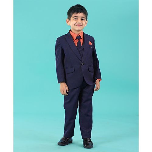 Robo Fry 4 Pieces Party Suit - Navy Blue