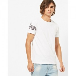SPYKAR Crew-Neck T-shirt with Placement Print