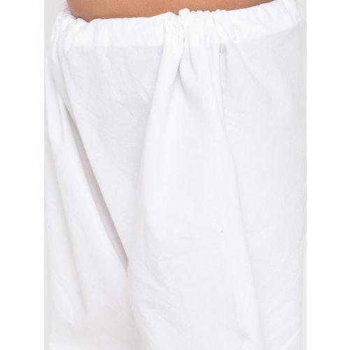 JBN Creation Boys Maroon & White Printed Kurta with Pyjamas