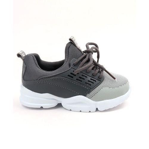 Cute Walk by Babyhug Dual Tone Sport Shoes - Dark & Light Grey