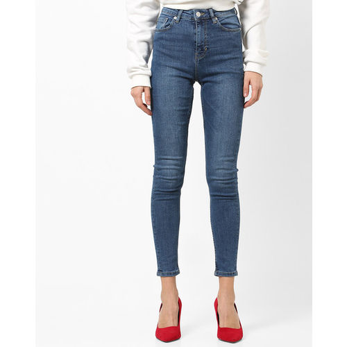 TALLY WEiJL Lightly Washed Ankle-Length Skinny Jeans