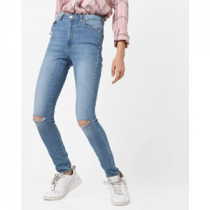 TALLY WEiJL Mid-Rise Distressed Jeans
