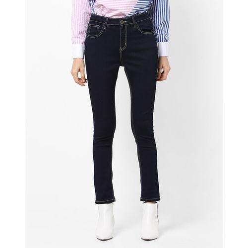 AJIO Mid-Rise Slim Fit Jeans
