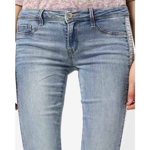 TALLY WEiJL Mid-Rise Skinny Jeans with Side Taping