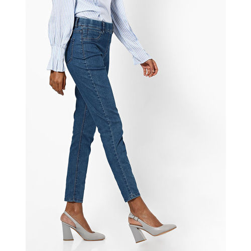 DNMX Mid-Rise Cropped Skinny Jeggings