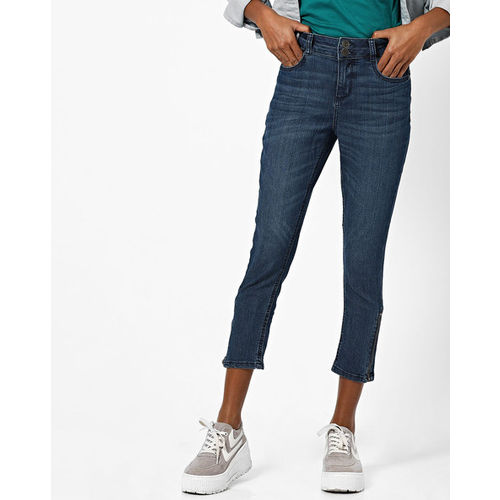 DNMX Mid-Rise Cropped Skinny Jeans