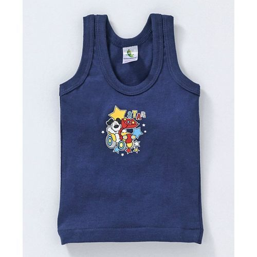 7cd2c1d3 ... Cucumber Sleeveless Cotton Vests Multiprint Pack of 3 - Navy Blue Red  Yellow ...