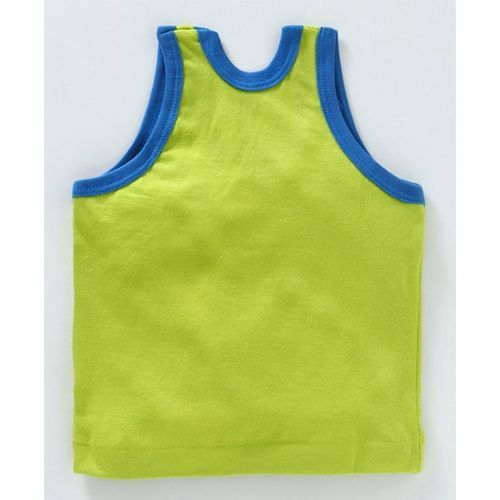 Zero Sleeveless Vests Space Print Pack of 3 - Red Blue & Pista Green