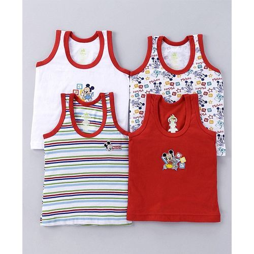 Bodycare Multi Color Sleeveless Vests -Pack of 4