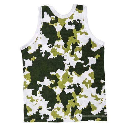 Plan B Camouflage Boy Vests - Green White