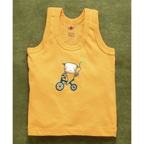 Zero Sleeveless Vests Cycle Print Pack of 3 - Blue Red Yellow