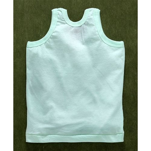 Zero Sleeveless Vests Pack of 3 - Green Sky Blue Coral