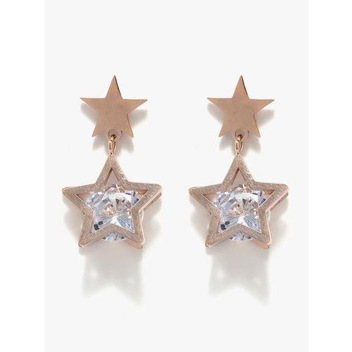 E2O gold Studded Drop Earrings