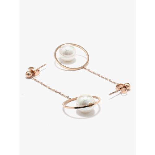 E2O Fashion Rose-gold Dangler Earrings