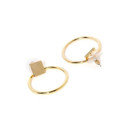 E2O Gold-Toned Circular Drop Earrings