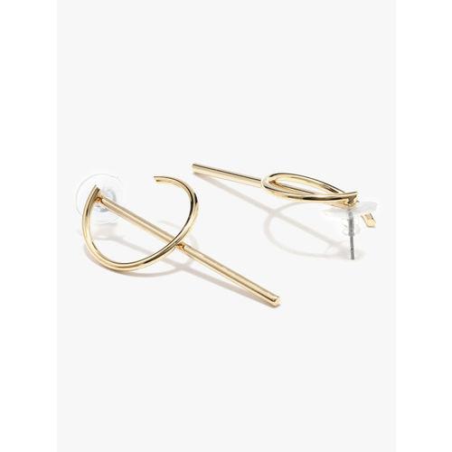 E2O gold Geometric Drop Earrings