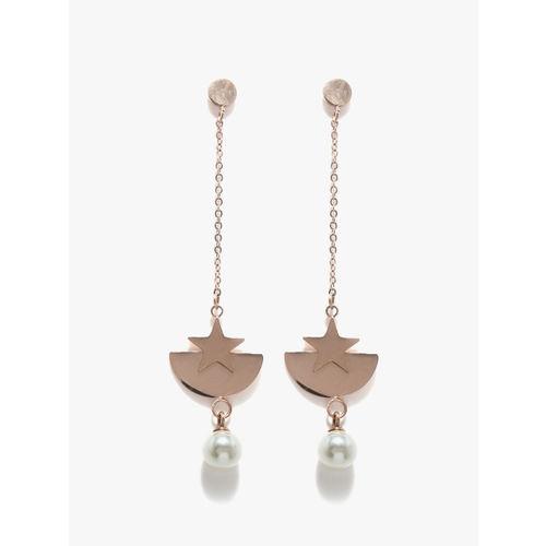 E2O Fashion Crescent Star-shaped Dangler Earrings