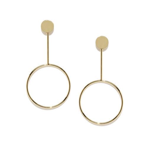E2O Gold-Toned Geometric Drop Earrings