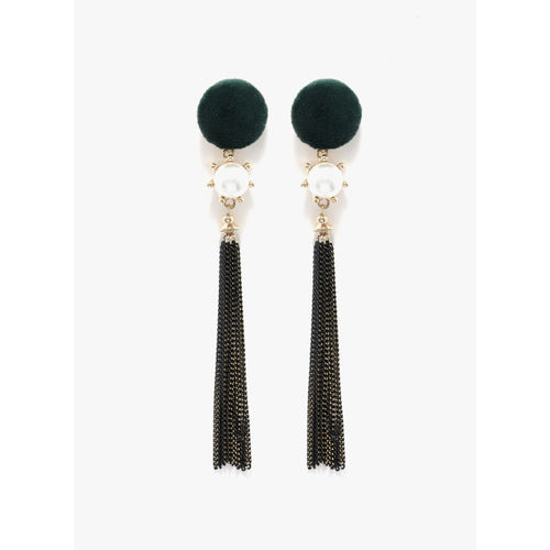 E2O Green/Golden Drop Earrings